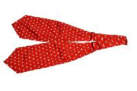 Silk Solid Ascot(Cravat) Polka Dot Red