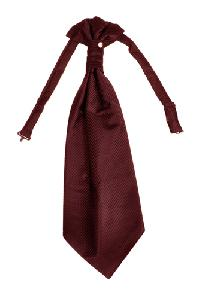 Polyester VS2010 Style Tone on Tone Woven Pre-tied Ascot(Cravat) BURGUNDY