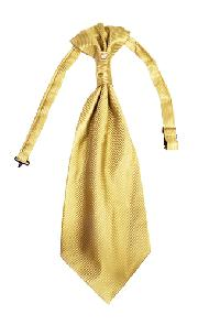 Polyester VS2010 Style Tone on Tone Woven Pre-tied Ascot(Cravat) GOLD