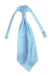 Polyester VS2010 Style Tone on Tone Woven Pre-tied Ascot(Cravat) LIGHT BLUE