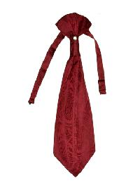 Polyester VS278 Paisley Tone on Tone Woven Pre-tied Ascot(Cravat) Burgundy