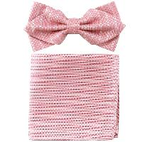 Polyester Pointed Tip Woven Bowtie with Hanky PW10145A