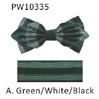 Polyester Pointed Tip Woven Bowtie with Hanky PW10335
