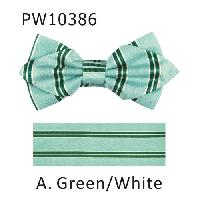Polyester Pointed Tip Woven Bowtie with Hanky PW10386
