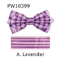 Polyester Pointed Tip Woven Bowtie with Hanky PW10399