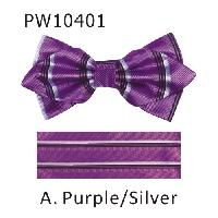 Polyester Pointed Tip Woven Bowtie with Hanky PW10401