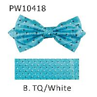 Polyester Pointed Tip Woven Bowtie with Hanky PW10418-B