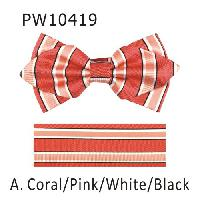 Polyester Pointed Tip Woven Bowtie with Hanky PW10419