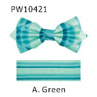 Polyester Pointed Tip Woven Bowtie with Hanky PW10421