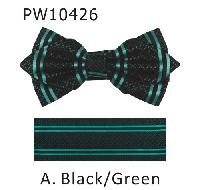 Polyester Pointed Tip Woven Bowtie with Hanky PW10426