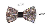 Polyester Bowtie Sequin VS1200 Bowties Silver