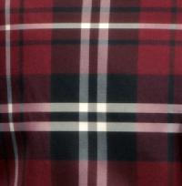 Polyester VS2012 Plaid Hankerchief Black / White / Burgundy