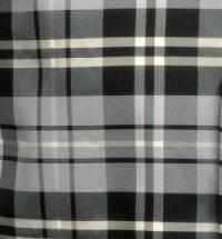 Polyester VS2012 Plaid Hankerchief Black / White / Grey