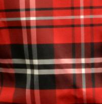 Polyester VS2012 Plaid Hankerchief Black / White / Red