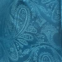 Polyester VS278 Paisley tone on tone Handkerchief Turquoise