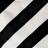 Polyester Dual Color Handkerchief Black / White