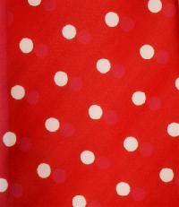 Polyester Polka Dot Handkerchief Red / White