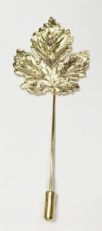 Metal Lapel Pin Leaf X-4
