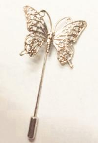 Metal Lapel Pin Butterfly X-8