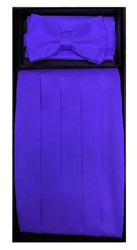 Poly Cummerbund/Bowtie/Hanky Set PURPLE