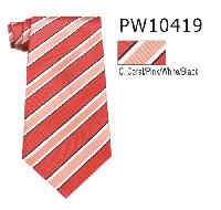 Polyester Regular Necktie Stripe 10419-C