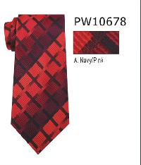 Polyester Necktie Stripe with Handkerchief PW 10668 (Regular or Skinny)