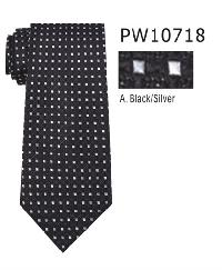 Polyester Necktie Stripe with Handkerchief PW 10718 (Regular or Skinny)