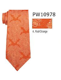 Polyester Necktie Stripe with Handkerchief PW 10978 (Regular or Skinny)