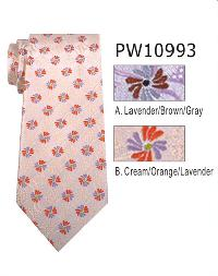 Polyester Necktie Stripe with Handkerchief PW 10993 (Regular or Skinny)