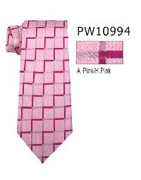 Polyester Necktie Stripe with Handkerchief PW 10994 (Regular or Skinny)
