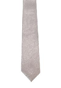 Polyester Regular Neck Tie Metallic Silver