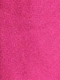 Polyester Regular Neck Tie w/ Handkerchief Metallic Hot Pink
