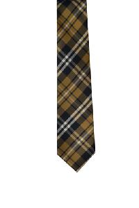 Polyester Regular Necktie VS2012 Plaid Brown