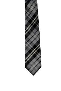 Polyester Regular Necktie VS2012 Plaid Grey
