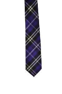 Polyester Regular Necktie VS2012 Plaid Purple