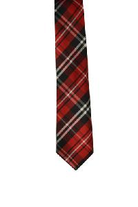 Polyester Regular Necktie VS2012 Plaid Red