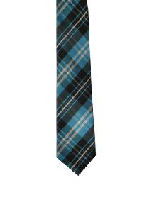 Polyester Regular Necktie VS2012 Plaid Turquoise