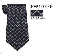 Polyester Regular Necktie Stripe PW10336-A