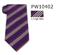 Polyester Regular Necktie Stripe PW10402-A