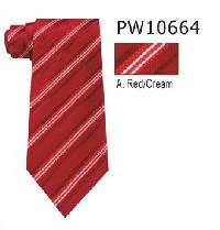 Polyester Regular Necktie Stripe with Handkerchief PW10664