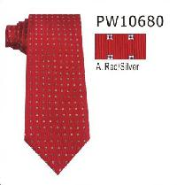 Polyester Regular Necktie Stripe with Handkerchief PW10680