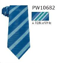 Polyester Regular Necktie Stripe with Handkerchief PW10682