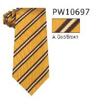 Polyester Regular Necktie Stripe with Handkerchief PW10697
