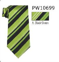 Polyester Regular Necktie Stripe with Handkerchief PW10699