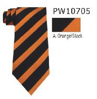 Polyester Regular Necktie Stripe with Handkerchief PW10705