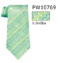 Polyester Regular Necktie Stripe with Handkerchief PW10769