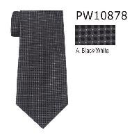 Polyester Necktie Stripe with Handkerchief PW10878(Regular or Skinny)