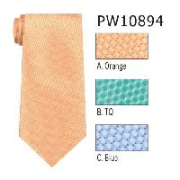 Polyester Necktie Stripe with Handkerchief PW10894(Regular or Skinny)