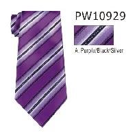 Polyester Necktie Stripe with Handkerchief PW10929(Regular or Skinny)