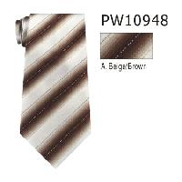 Polyester Necktie Stripe with Handkerchief PW10948(Regular or Skinny)